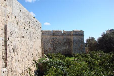 Stadtmauer Mdina Malta