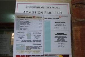 Grandmasters Palace Valletta Eintrittspreise